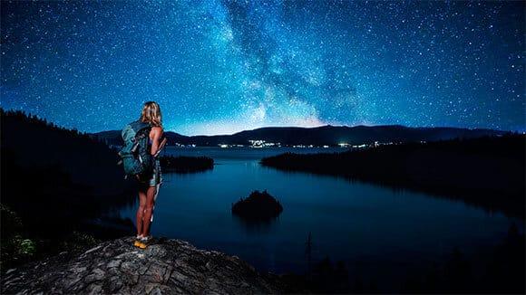 night stars hike Tahoe hiking tours moon adventure
