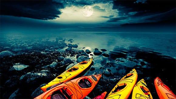 moon kayak Tahoe tour star adventure
