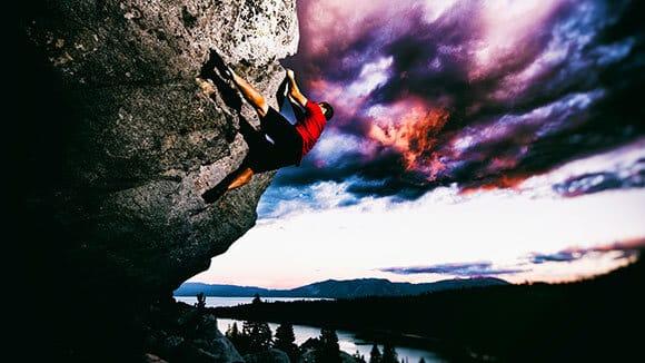 Rock climbing Tahoe adventure course. Learn to rock climb