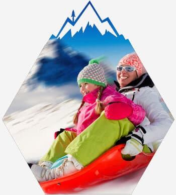 Lake Tahoe sledding